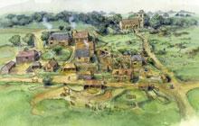 disegno cittadina medioevale